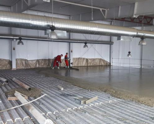 ао град бетонные полы на складе
