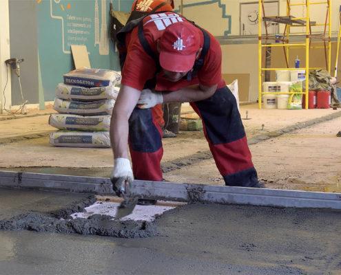 делаем бетонный пол