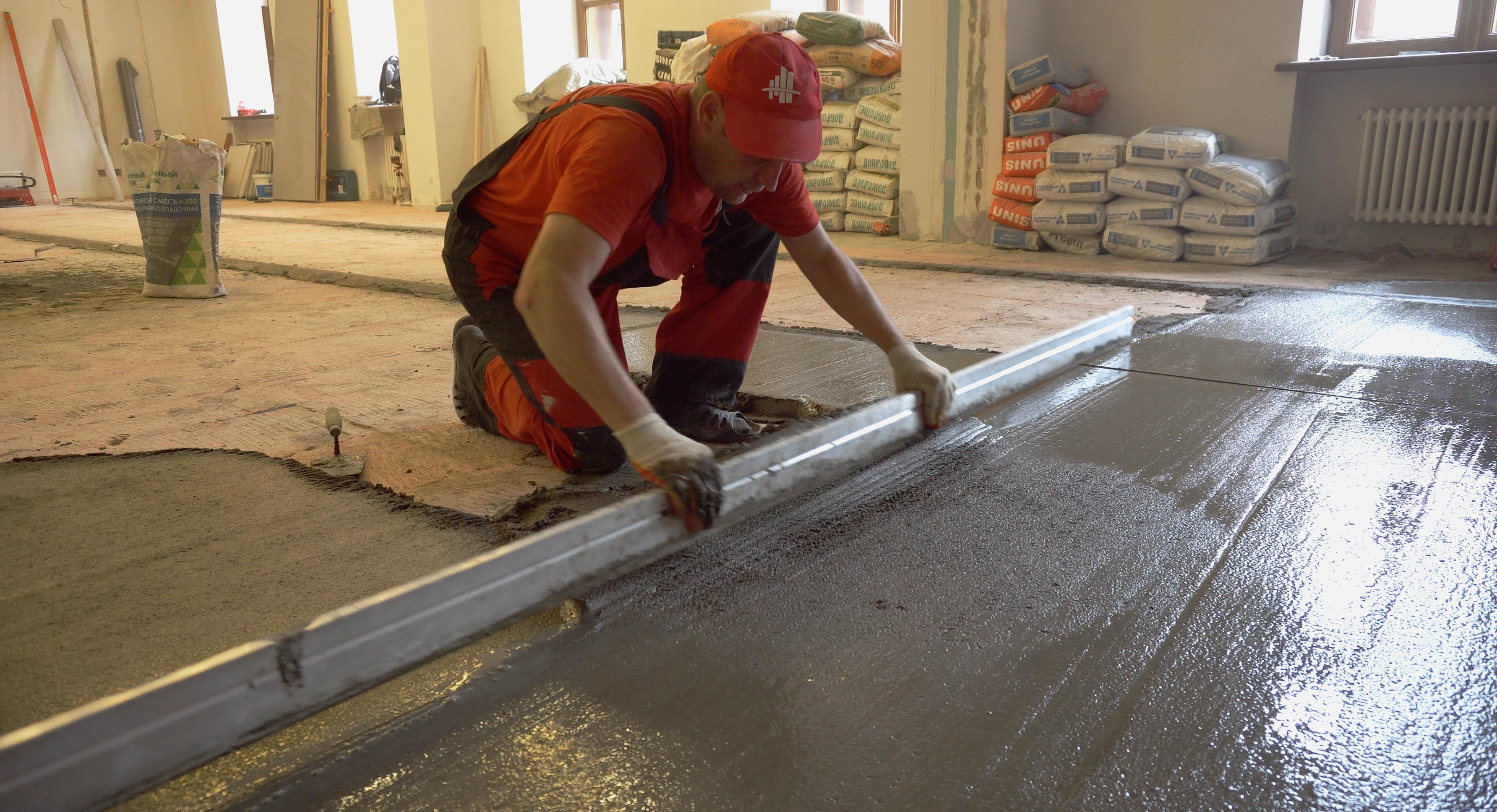 бетонные полы выравнивание